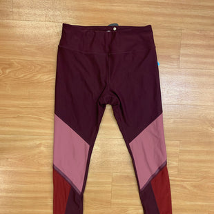 Primary Photo - BRAND: AVIA STYLE: ATHLETIC PANTS COLOR: MAROON SIZE: M OTHER INFO: ROSE RED RED AREA IS MESH DETAIL SKU: 245-245199-2943