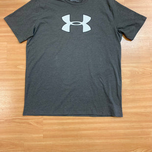 Primary Photo - BRAND: UNDER ARMOUR STYLE: ATHLETIC TOP SHORT SLEEVE COLOR: CHARCOAL SIZE: 2X SKU: 245-24518-79026