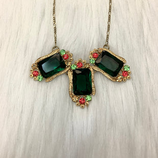 Primary Photo - BRAND:  CME STYLE: NECKLACE COLOR: GOLD OTHER INFO: NO RETURNS  GREEN RED SKU: 245-24518-74405