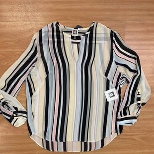 Primary Photo - BRAND: ANNE KLEIN O STYLE: TOP LONG SLEEVE COLOR: STRIPED SIZE: L OTHER INFO: YELLOW BLACK WHITE BLUE PINK SKU: 245-245189-9138