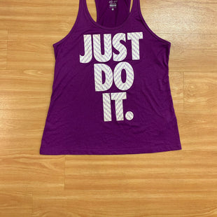 Primary Photo - BRAND: NIKE APPAREL STYLE: ATHLETIC TANK TOP COLOR: PURPLE SIZE: L SKU: 245-245199-2937
