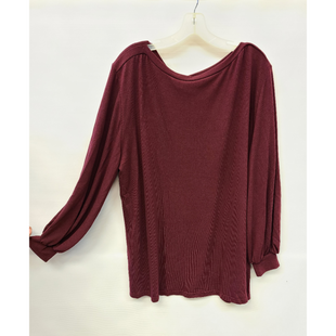 Primary Photo - BRAND: AMARYLLIS STYLE: TUNIC LONG SLEEVE COLOR: MAROON SIZE: 1X SKU: 245-24513-83218