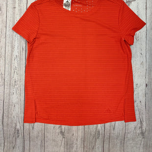 Primary Photo - BRAND: ADIDAS STYLE: ATHLETIC TOP SHORT SLEEVE COLOR: RED SIZE: M SKU: 245-24518-81473