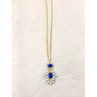 Primary Photo - BRAND: CHICOS O STYLE: NECKLACE COLOR: GOLD SILVER OTHER INFO: NO RETURNS  2 SHADES BLUE 2 PARTS SKU: 245-24518-80126