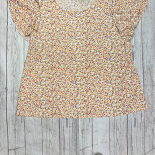 Primary Photo - BRAND: ADRIANNA PAPELL STYLE: TOP SHORT SLEEVE COLOR: FLORAL SIZE: 2X OTHER INFO: YELLOW ORANGE PINK SKU: 245-24513-80073