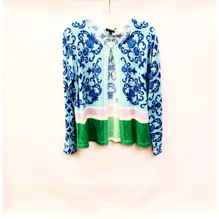Primary Photo - BRAND: ESCADA STYLE: SWEATER CARDIGAN LIGHTWEIGHT COLOR: BLUE GREEN SIZE: M SKU: 245-24513-81729