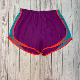 Primary Photo - BRAND: NIKE APPAREL STYLE: ATHLETIC SHORTS COLOR: PURPLE SIZE: M OTHER INFO: BLUE/ORANGE SKU: 245-24588-32972