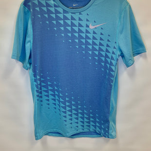 Primary Photo - BRAND: NIKE APPAREL STYLE: ATHLETIC TOP SHORT SLEEVE COLOR: BLUE SIZE: S SKU: 245-24513-77107