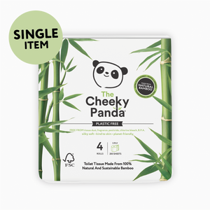 Bamboo Toilet Roll Pk 4