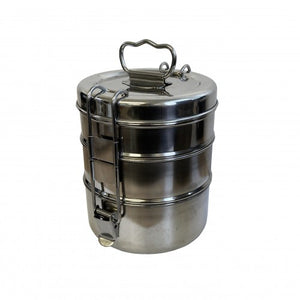 Tiffin Tin 3 Tier - Stainless Steel