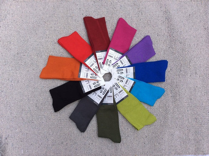 MoSo Bamboo Socks  - Solid Colours (7-11)