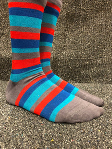 Bamboo Socks 4-7 (36-40) Blue with Grey Heel