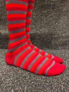 MoSo Bamboo Socks - Stripey (8-11)
