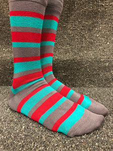 Bamboo Socks 4-7 (36-40) Green with Grey Heel