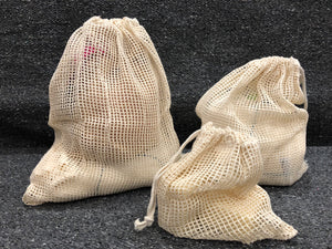 Organic Cotton Mesh Produce Bags Variety Pack