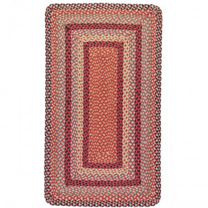 Braided Jute Rug-chilli