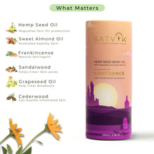 Load image into Gallery viewer, Satvik Spirit CONFIDENCE – Hemp Seed Body Oil | 100ML
