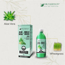 Load image into Gallery viewer, Dr. Vaidya's Aloevera and Wheatgrass Juice