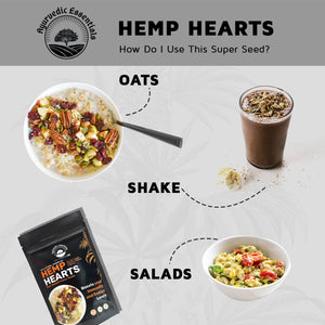 Hemp Hearts (Seeds) Combo Pack | 500 GM pack of two | Ayurvedic Essentials