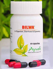 Load image into Gallery viewer, Ayush Herbs Bilwa Capsules – Diarrhoea & Dysentery Support
