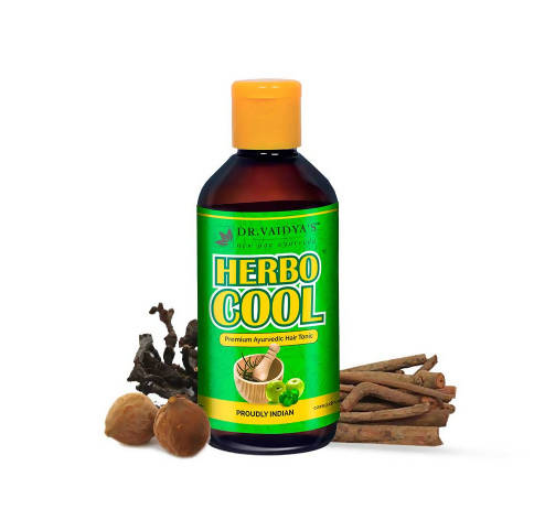 Dr. Vaidya's Herbocool Hair Tonic - Ayurvedic Anti-Hairfall and Anti-Greying Oil