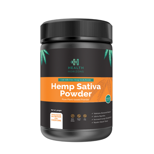 Health Horizons Ayurvedic Sativa Hemp Protein Powder – 500gm