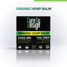 Load image into Gallery viewer, Cure By Design Organic Indian Hemp Balm - 2000mg