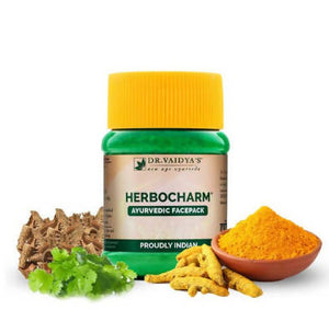 Dr. Vaidya's Herbocharm Powder - Facepack for Clear Skin Pack of 2