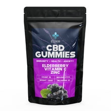 Load image into Gallery viewer, Bottled Poetry Vitamin C + Zinc Elderberry Flavoured CBD Gummies 300 Mg