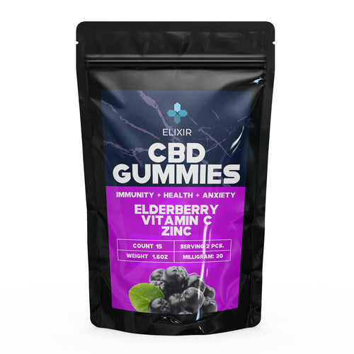 Bottled Poetry Vitamin C + Zinc Elderberry Flavoured CBD Gummies 300 Mg