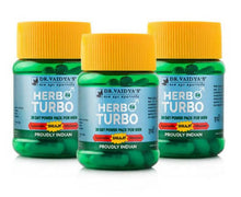Load image into Gallery viewer, Dr. Vaidya's Herbo24Turbo - Ayurvedic Capsules for Male Sexual Wellness - Pack of 3