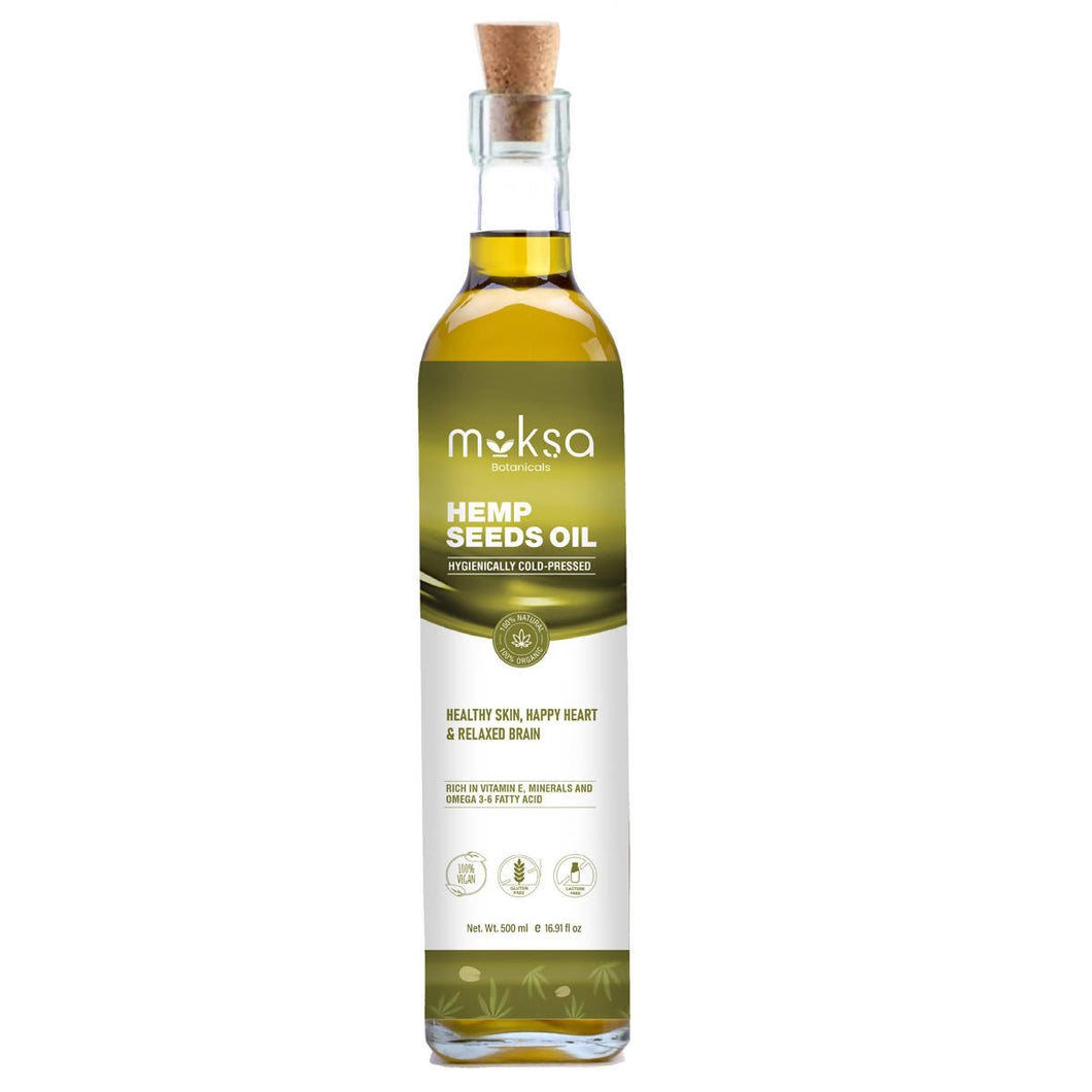 Moksa Cold Pressed Edible Hemp Seed Oil | 500ML