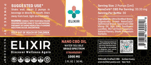Bottled Poetry Nano CBD Elixir Strawberry 1000 Mg