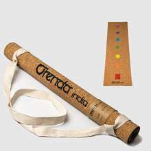 Load image into Gallery viewer, Orenda India Yogi Travel Cork Yoga Mat 7-Chakra