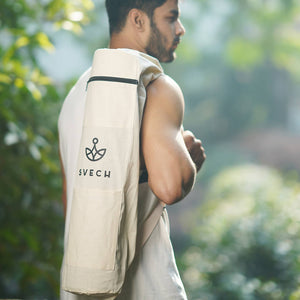 Svech Cotton Yoga Mat Bag