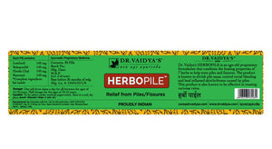 Dr. Vaidya's Herbopile Pills -Ayurvedic Pills for Piles & Fissures - Pack of 2