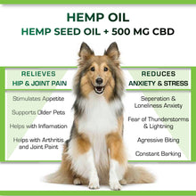 Load image into Gallery viewer, Cure By Design Hemp Indian Hemp Oil for Pets - 500mg
