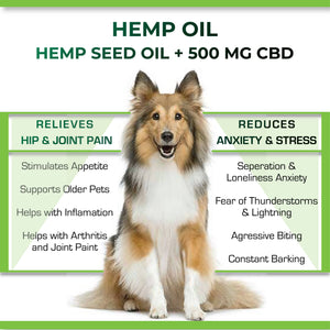 Cure By Design Hemp Indian Hemp Oil for Pets - 500mg