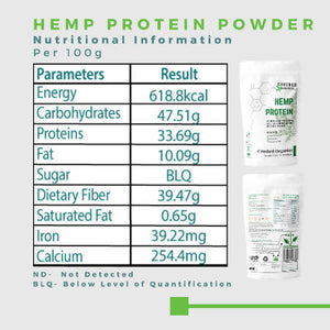 Crushed Organics Hemp Protein Powder - 500gm