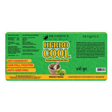 Load image into Gallery viewer, Dr. Vaidya's Herbocool Hair Tonic - Ayurvedic Anti-Hairfall and Anti-Greying Oil