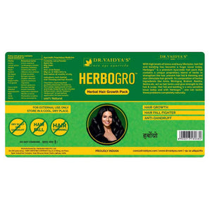 Dr. Vaidya's Herbogro – Herbaal Hair Growth and Anti-Hairfall - Pack of 2
