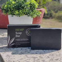 Load image into Gallery viewer, Ananta Hemp Soap Bar - Charcoal & Lemon