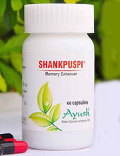 Load image into Gallery viewer, Ayush Herbs Shankhpushpi Capsules -Memory Support