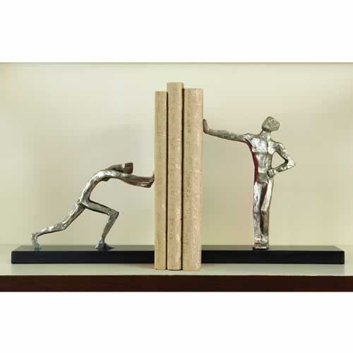 Blockhead Bookends-Pair