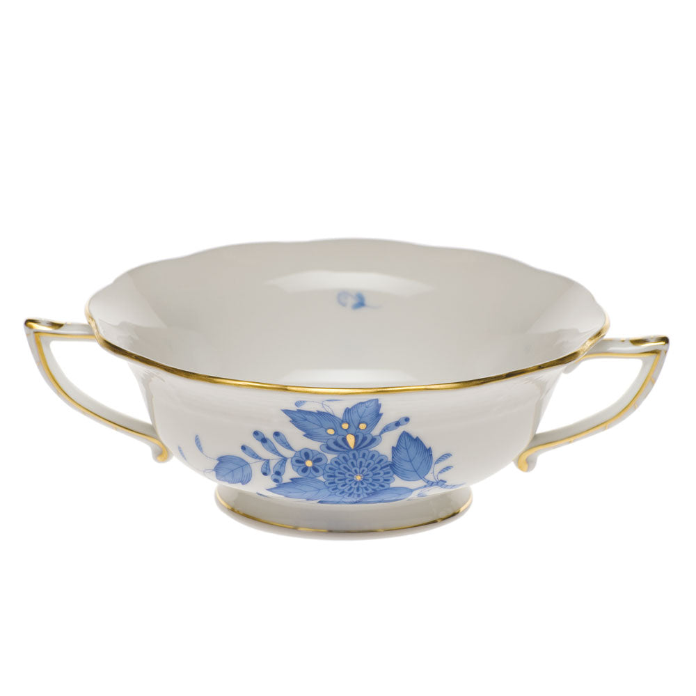 Herend Chinese Bouquet Cream Soup Cup Blue