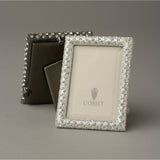 L'Objet White Crystals on Platinum Rectangular FrameCollection