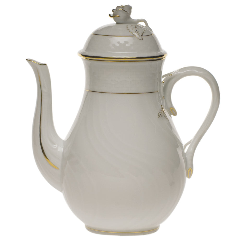 Herend Golden Edge Coffee Pot