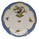 Herend Rothschild Bird Blue Tea Saucer Motif #1