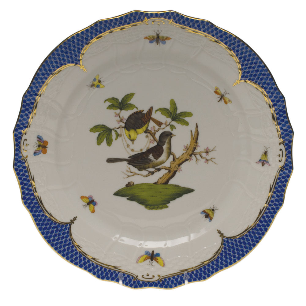Herend Rothschild Bird Blue Service Plate Motif #1