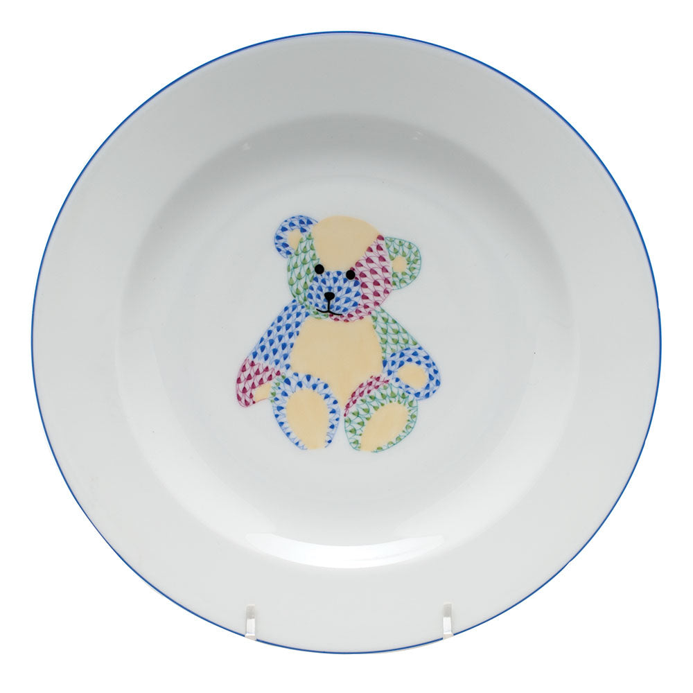 Herend Plate W/teddy Bear